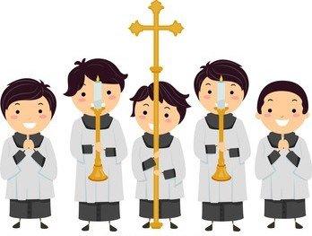 illustration stickman kids altar boys 260nw 667442002